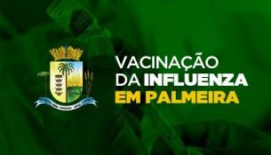 Palmeirenses já receberam 12,5 mil doses de vacina contra a Influenza