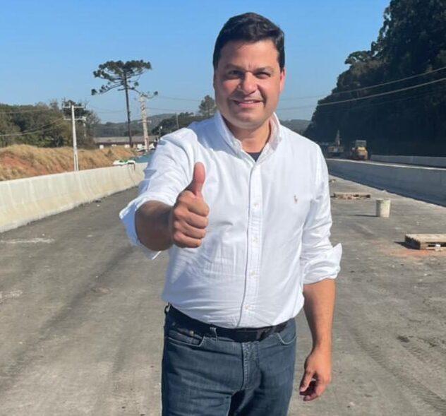 Governador Ratinho Junior e secretário Sandro Alex entregam viaduto do Contorno Sul na segunda quinzena de agosto
