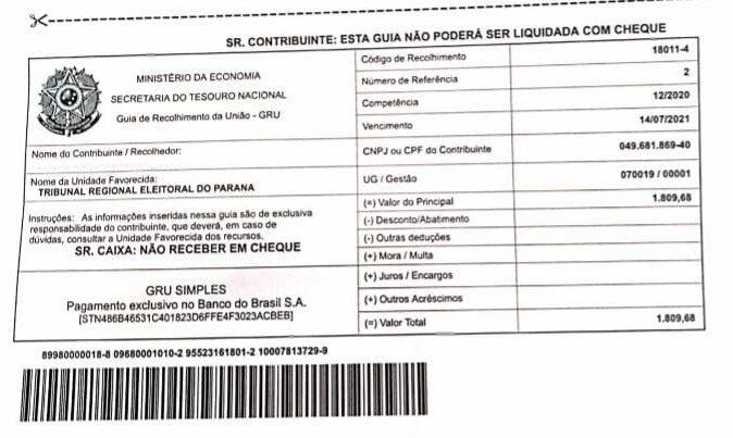 Ex-candidatos recebem cobrança após Justiça desaprovar contas do Patriota em Castro