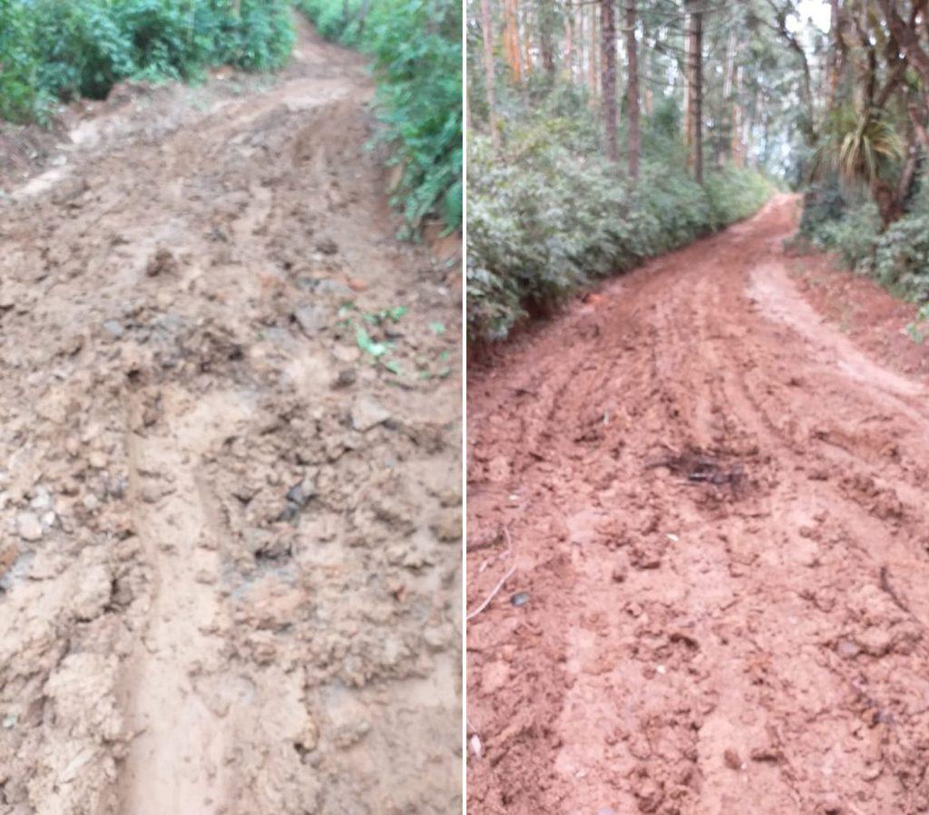 Moradores de Castro pagam do bolso para consertar trechos interditados em estradas rurais