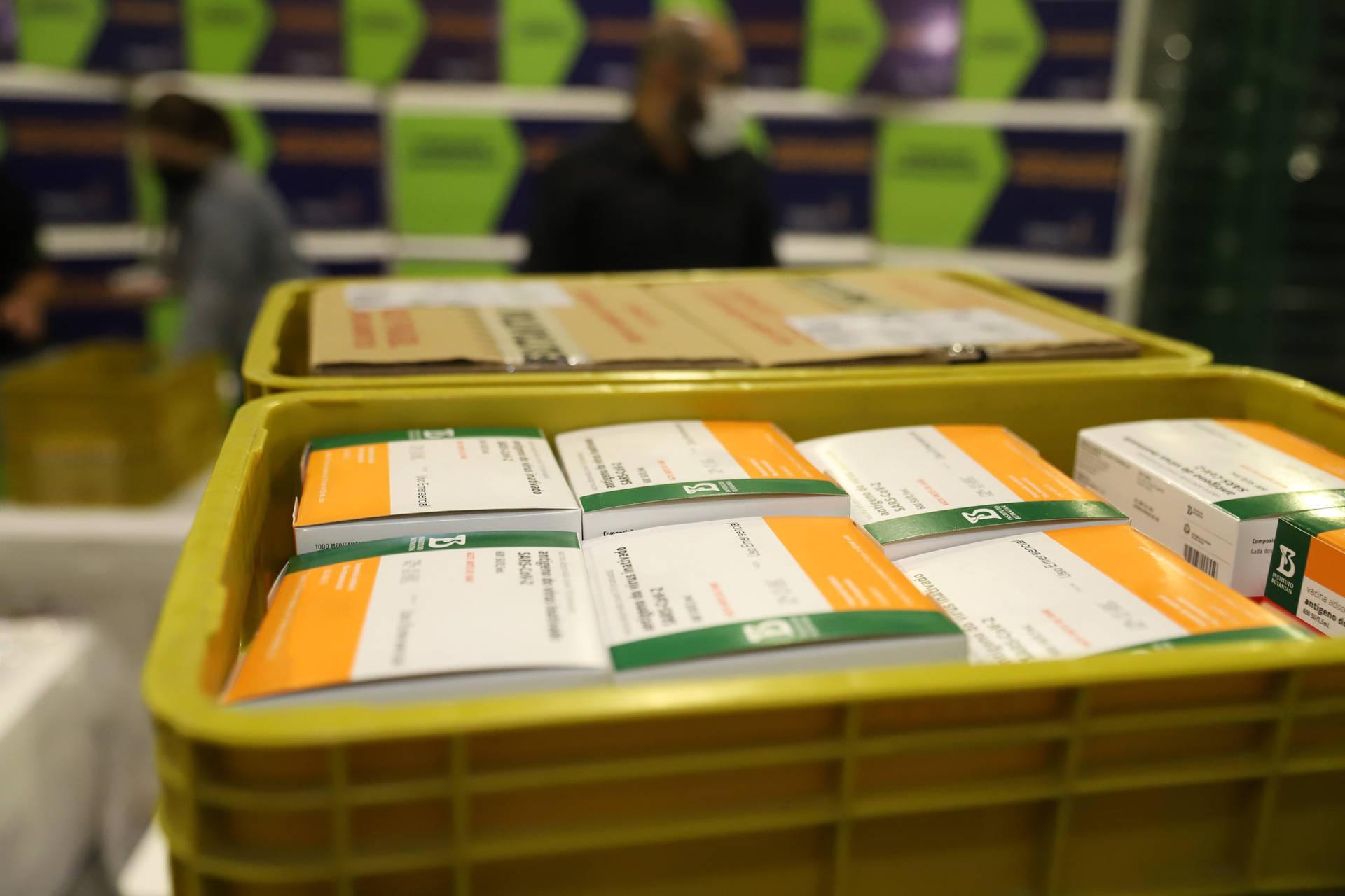 141 mil doses de vacinas contra a Covid-19 chegam ao Paraná nesta segunda-feira