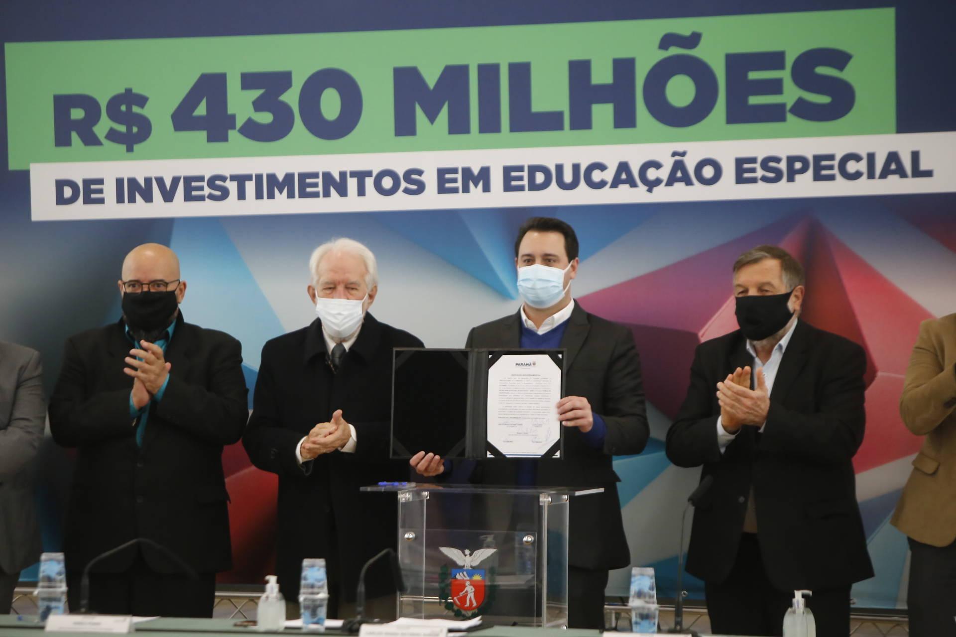 Governo do Estado vai destinar R$ 432,3 milhões para a educação especial do Paraná