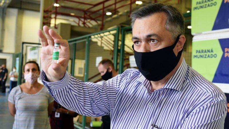 Com o avanço da vacinação, Paraná começa a criar escudo coletivo contra a Covid-19, diz Beto Preto