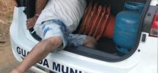 Homem é preso por furto de botijão de gás em Castro