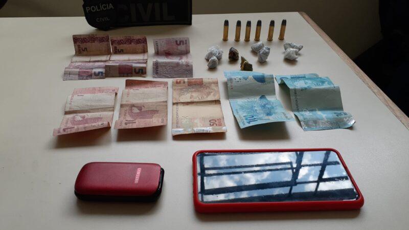 Rapaz é detido por tráfico de drogas em PG