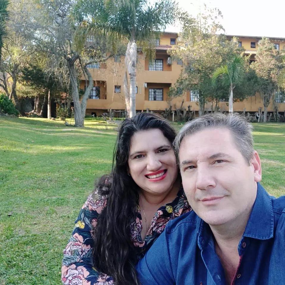 Cleucimara Santiago, com o seu marido Marcelo