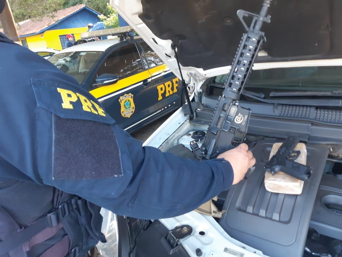 Policial militar de PG é preso por tráfico de drogas e armas na BR-373