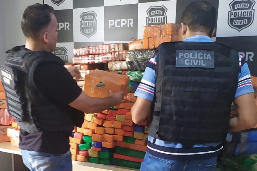 Apreensão de drogas aumentam em 13,5% no 1° semestre no Paraná