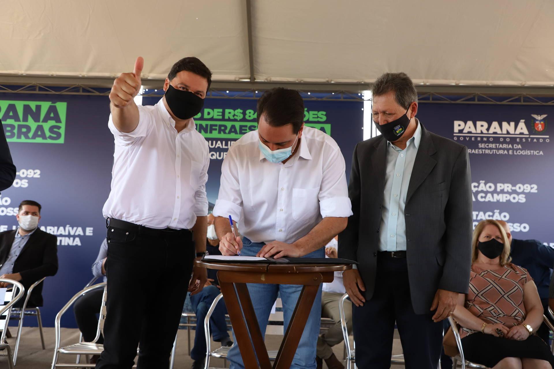 Ratinho Junior autoriza terceiras faixas na PR-092, entre Jaguariaíva e Santo Antônio da Platina