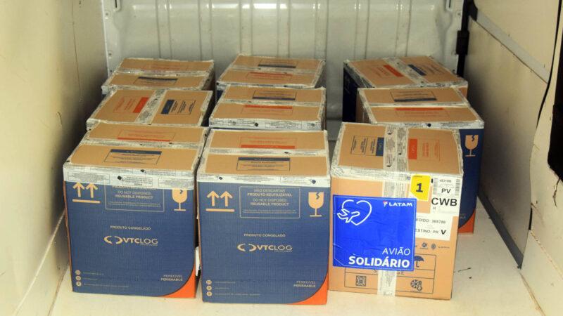 Paraná recebeu mais 63 mil vacinas contra a Covid-19