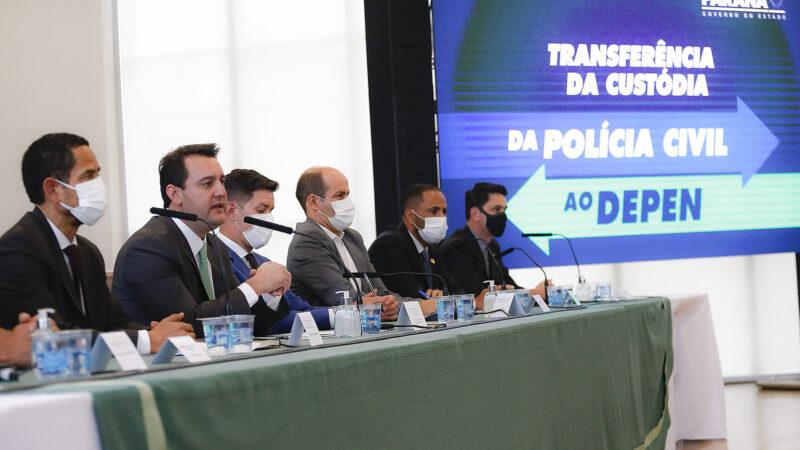 """""""A mudança de gestão carcerária vai transformar a segurança pública do Paraná"""", diz Ratinho Junior"""