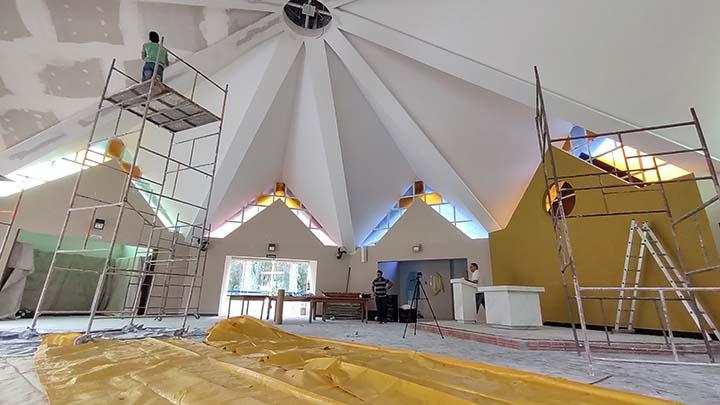 Santuário de Nossa Senhora das Brotas está em obras, graças a Campanha dos Devotos