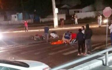 Motociclista fica ferido em acidente na Vicente Fiorilo