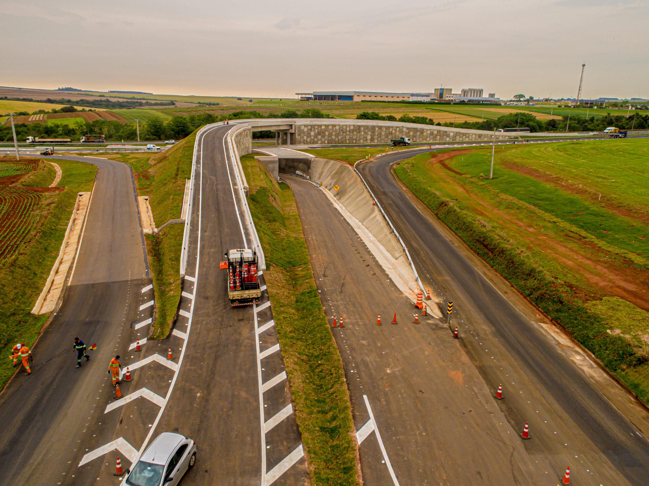 CCR RodoNorte já faz mudanças no tráfego do novo acesso secundário de Ponta Grossa na PR-151