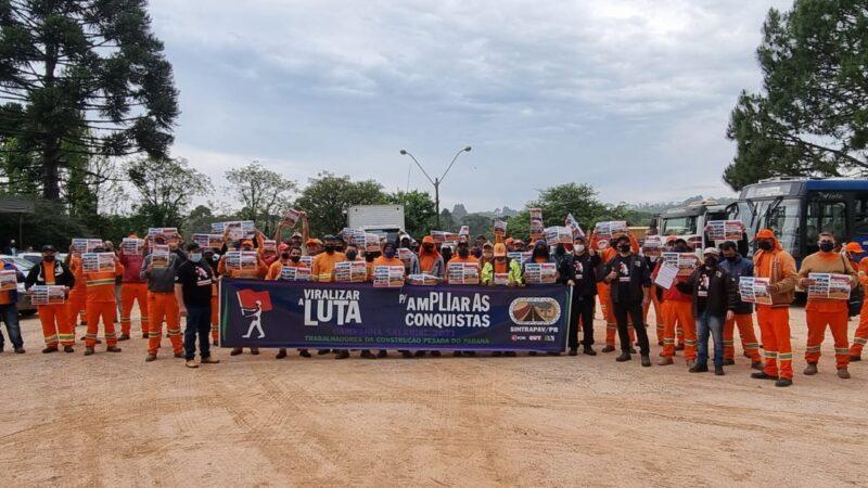 Após oito dias de greve, operários da obra do Contorno Norte voltam ao trabalho